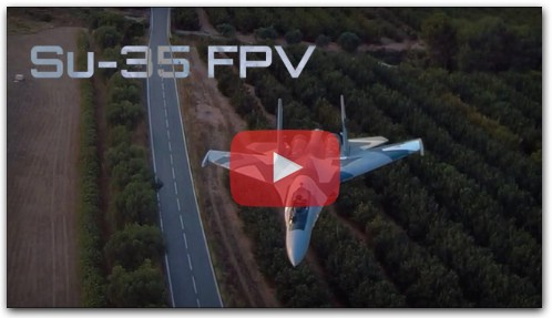 FPV SU-35 Formation Flight With 3D Printed P-38 - HD 50fps