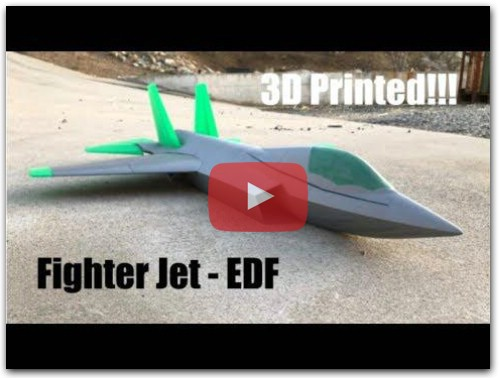 3D Printed Fighter Jet - Flight Video