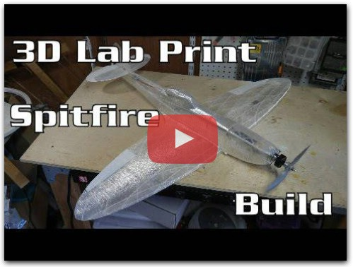 3D Lab Print Spitfire Mk XVI Build