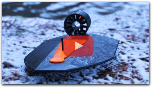 Fan Powered 3D Printed RC Airboat