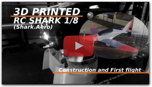 3D printed RC Shark 1/8