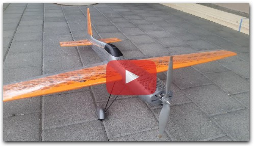 A 3D printed RC plane - maiden flight