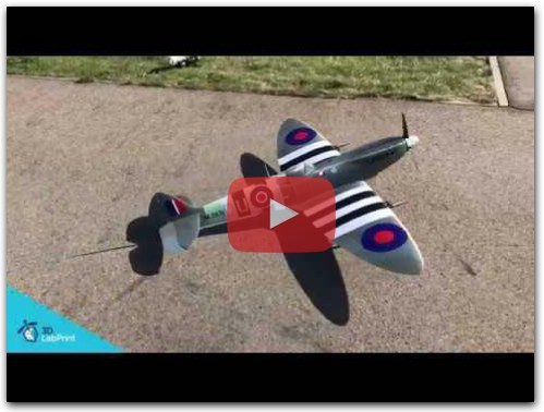 Spitfire MkIX flight video (fully 3d printable)