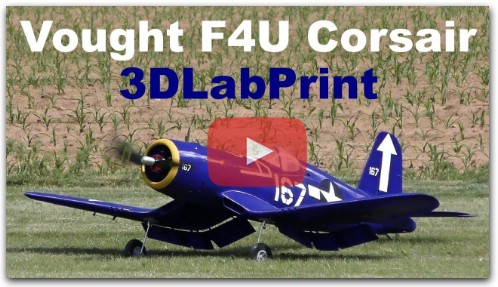 Vought F4U Corsair 3DLabPrint, 3D printed scale RC aircraft