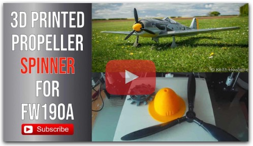Anet A8 3d printed propeller spinner for Focke Wulf 190A RC plane