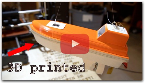 RC 3D Printed Lifeboat