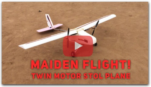 Twin motor STOL rc airplane- maiden flight!