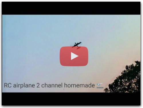RC 2 channel airplane Homemade ! Fun toy RC!