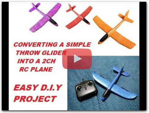 MAKE A THROW GLIDER INTO RC PLANE D.I.Y.