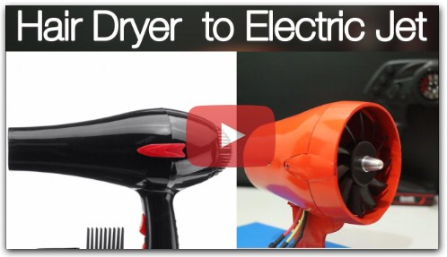 How to Make Electric Jet From Hair Dryer With Brushless Motor