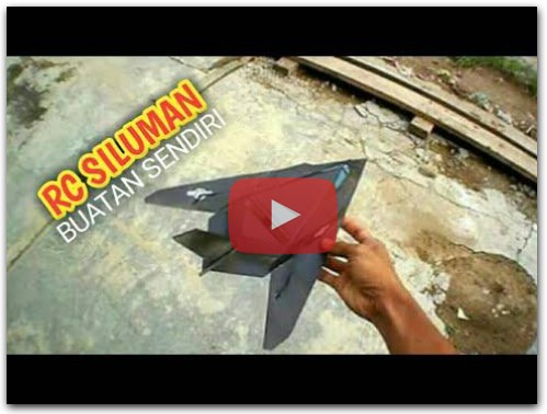 how to make RC Plane Mini Siluman F117 Nighthawk membuat pesawat remot dari NOL