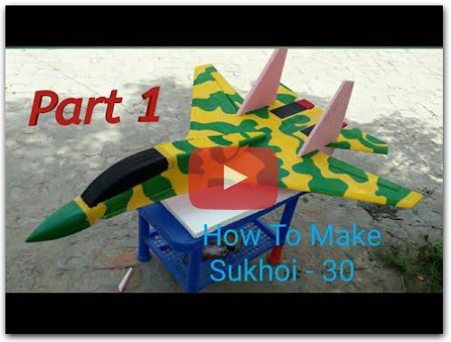 How To Make A Rc Airplane Su-30 Sukhoi Singel Brushless 2200kv Motor