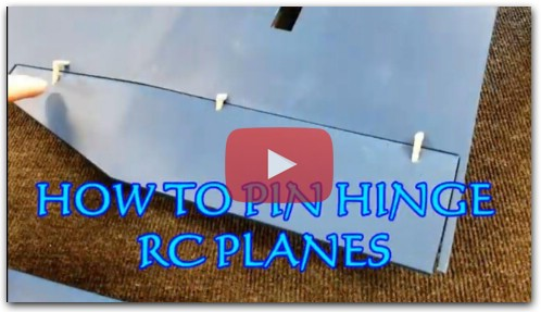 HOW TO PIN HINGE RC PLANES