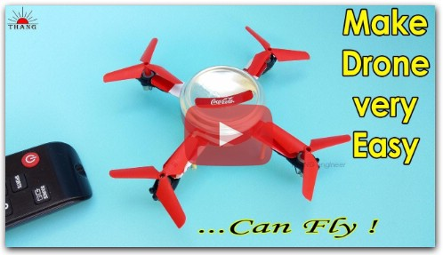 How to make a Remote Control Helicopter Drone at Home | 100% fly