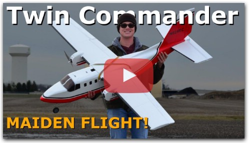 "Maiden Flight - 80"" Twin Commander DIY RC Airplane"
