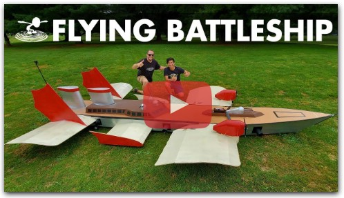 ⚓️ Flying an 18-foot Battleship for fun ⚓️ World`s First Flying Destroyer!