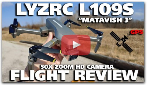 LYZRC L109S Matavish 3 Brushless GPS Drone with 50x Zoom HD Camera Flight Review