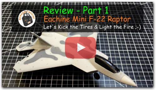 Review - Eachine Mini F-22 Raptor F22 Warbird F-22