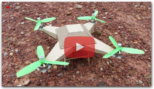 How to make Remote Control Cardboard Drone at home