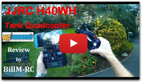 JJRC H40WH Review - RC Tank Quadcopter with FPV (Part I)