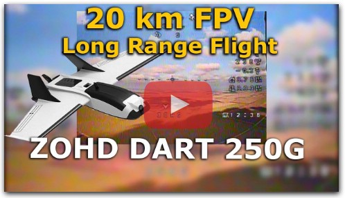 ZOHD Dart 250G 20km fpv Long Range flying wing qczek lrs