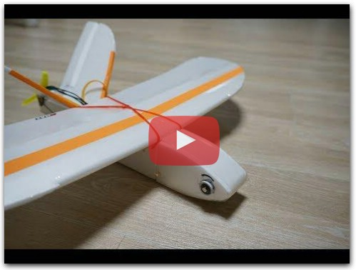 Sparrow 2/3 SIZE FAILURE wing span 500mm DIY RC airplane