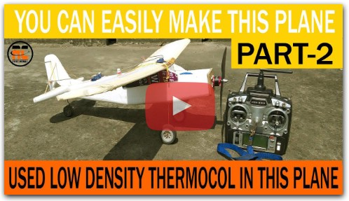 HOW TO MAKE A LIGHTWEIGHT RC PLANE USING LOCAL MATERIALS
