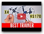 BEST Trainer Quad for the MoneyHolyStone HS170 Review (Hubsan X4 Comparison)