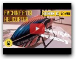 Eachine E119 Flybarless RC Helicopter - Maiden Flight 2020