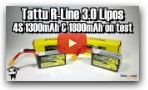 Tattu R-Line 3.0 1300mAh & 1800mAh 4S Lipos. Supplied by Banggood