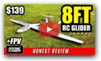 8FT RC GLIDER! - Volantex ASW28 V2 - Full Review, Flights, and FPV Setup