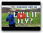 Will it Fly or CRASH!?  100% Homemade RC Airplane