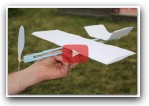 How to Make a Rubber Band Plane Out of Paper - Very EASY