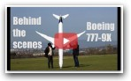 behind the scenes footage, BOEING 777-9X model airplane