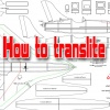 How to translate the drawing model aircraft