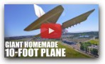 GIANT Homemade 10-FOOT Plane