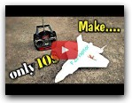 How To Make RC AirPlane (F-22 Raptor) at home