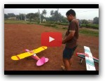 Flying Slow Fly Homemade RC plane Duo