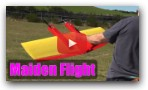 GremTwin crazy RC plane, maiden flight
