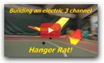 Hanger Rat: simple electric balsa airplane build and maiden flight