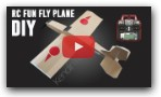How To Make RC Model Airplane Fun-Fly Style. DIY RC Airplane With Brushless motor