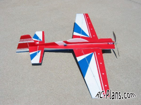 Free plans for rc flying wing 3D Foamy CAP 232