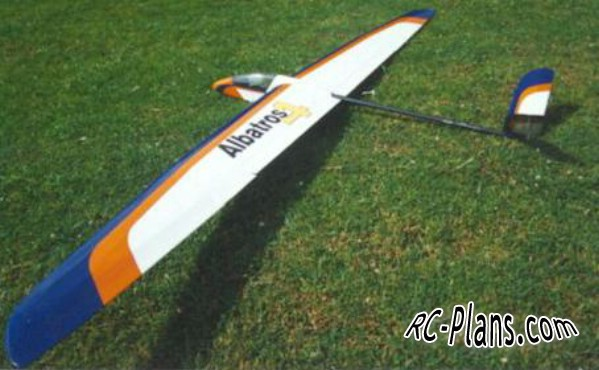 Free plans for foam rc glider Albatros 4