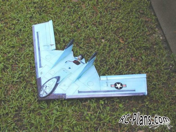 free plans rc airplane B2 Stealth Bomber