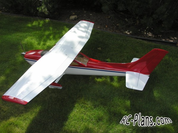 free plans balsa rc airplane Cessna 182 Skyline