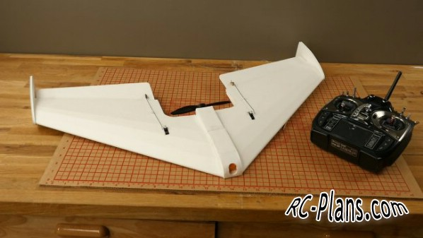 Free plans for foam rc flying wing FT Mighty Mini Arrow