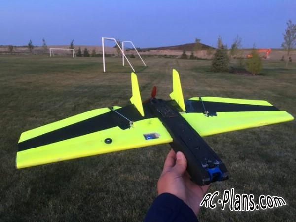 Free plans for foam rc airplane FoamTini Sub 250g