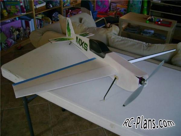 free rc plane plans download PDF - homemade rc airplane MXS