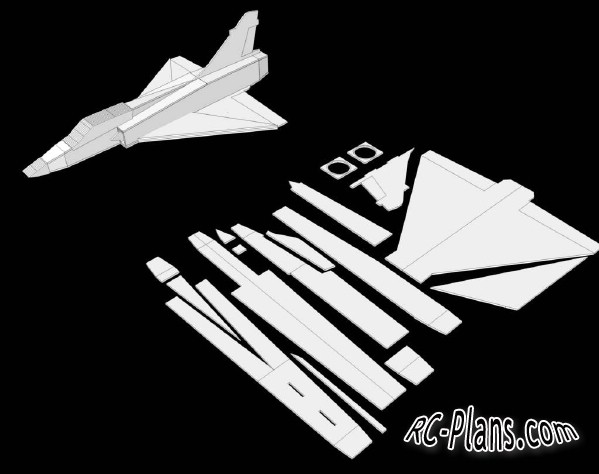 Free plans for balsa 3d rc airplane Mirage 2000