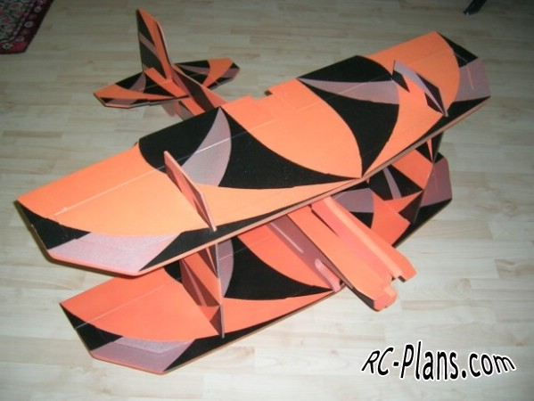 Free plans for rc airplane Monster Tensor 3D